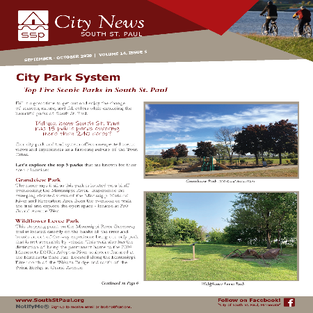 Image of the cover page of the Sept-Oct 2020 City Newsletter